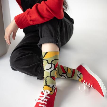 chaussettes - bonne maison -  Racine - Mousse - femme - homme - mixte