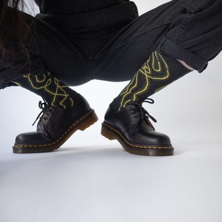 chaussettes - bonne maison -  Danseur - Faux noir - femme - homme - mixte