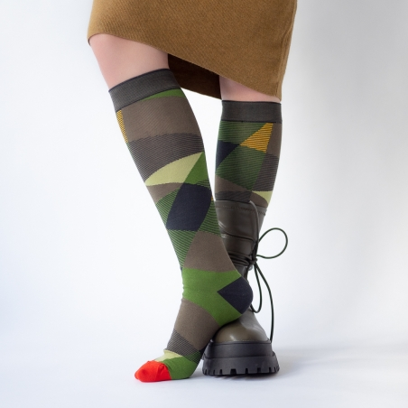 chaussettes - bonne maison -  Abstraction - Multico - femme - homme - mixte