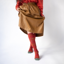 socks - bonne maison -  Frog - Crimson - women - men - mixed