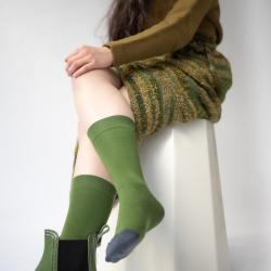 socks - bonne maison -  Plain - Cactus - women - men - mixed