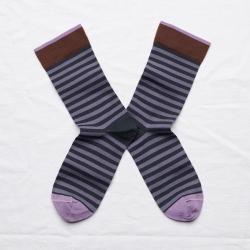 socks - bonne maison -  Stripe - Night - women - men - mixed