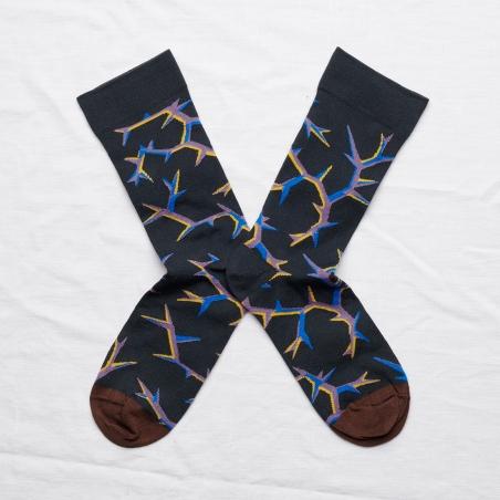 chaussettes - bonne maison -  Epine - Nuit - femme - homme - mixte