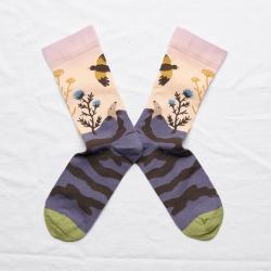 chaussettes - bonne maison -  Taupe - Rose bouton - femme - homme - mixte