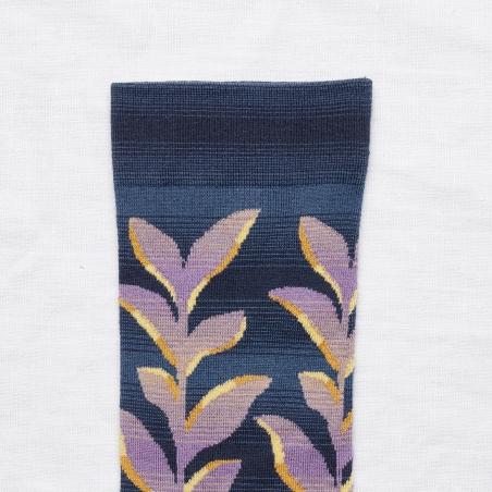 chaussettes - bonne maison -  Plante - Denim - femme - homme - mixte