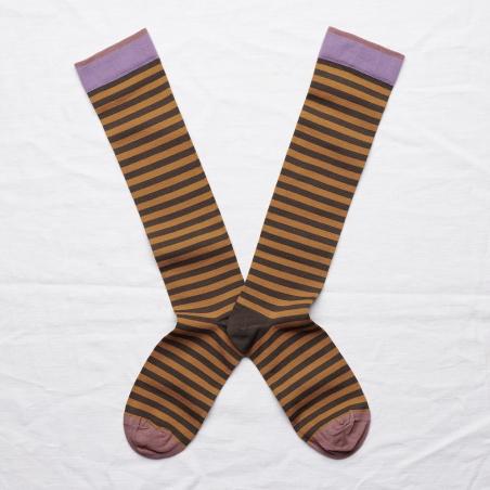 chaussettes - bonne maison -  Rayure - Ombre - femme - homme - mixte