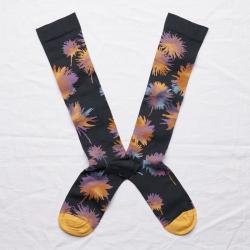 socks - bonne maison -  Flower - Night - women - men - mixed