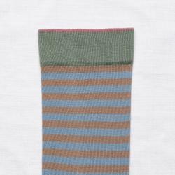 chaussettes - bonne maison -  Rayure - Taupe - femme - homme - mixte