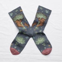 socks - bonne maison -  Bear - Steel - women - men - mixed