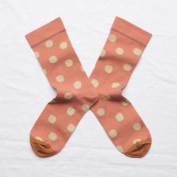 chaussettes - bonne maison -  Pois - Terre rouge - femme - homme - mixte