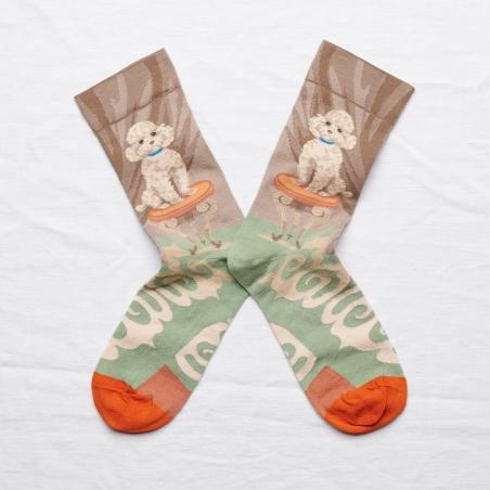 chaussettes - bonne maison -  Caniche - Iris - femme - homme - mixte