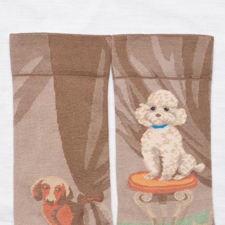 socks - bonne maison -  Poodle - Iris - women - men - mixed