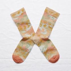chaussettes - bonne maison -  Dominoté - Sable - femme - homme - mixte