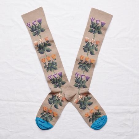chaussettes - bonne maison -  Liseron - Iris - femme - homme - mixte
