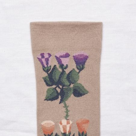 socks - bonne maison -  Bindweed - Iris - women - men - mixed