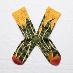 chaussettes - bonne maison -  Feuille - Bouton d'or - femme - homme - mixte