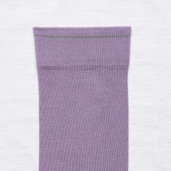 socks - bonne maison -  Plain - Violet - women - men - mixed
