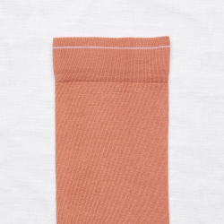 chaussettes - bonne maison -  Uni - Terre rouge - femme - homme - mixte