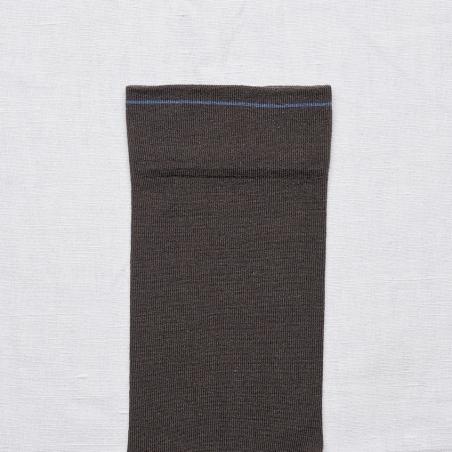 socks - bonne maison -  Plain - Umber - women - men - mixed