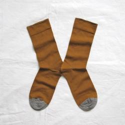 chaussettes - bonne maison -  Uni - Cannelle - femme - homme - mixte