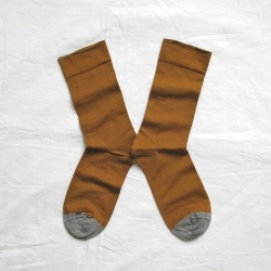 socks - bonne maison -  Plain - Cinnamon - women - men - mixed