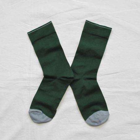chaussettes - bonne maison -  Uni - Forêt - femme - homme - mixte