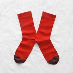 chaussettes - bonne maison -  uni sanguine - rouge - femme - homme - mixte